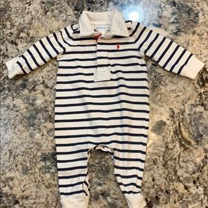 POLO Ralph Lauren Striped Rugby Coverall 6 Mos
